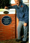 "Club Stalwart Peter Dawson outside What was George and Beryl's home ""Beryldene"" at St. Annes on Sea in November 2012"